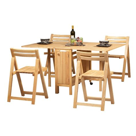 Space Saver Dining Room Sets Linon 5 Space Saver Dining Set