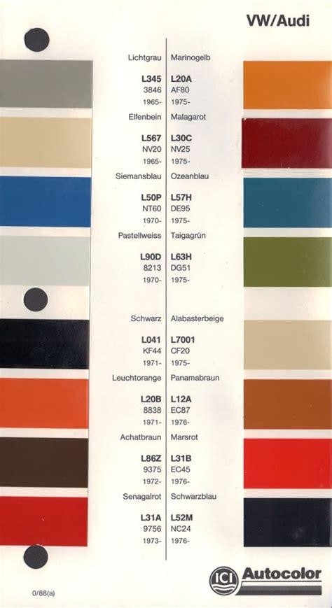 paint chips 1965 volkswagen beetle colors