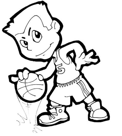 Basketball Player Coloring Pages basketball player coloring pages coloring part 4