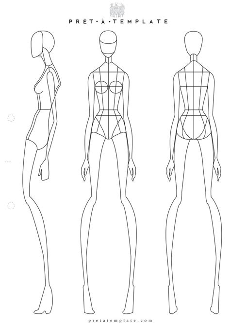 figure template 41 best printable templates fashion figure templates