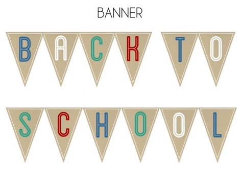 printable school banner free back to school party printables from printabelle