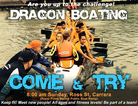 dragon boat gold coast come try dragonboating broadwater dragons paddling club