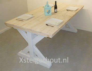 landelijke tafel zelf maken landelijke tafel steigerhout bouwpakket xsteigerhout