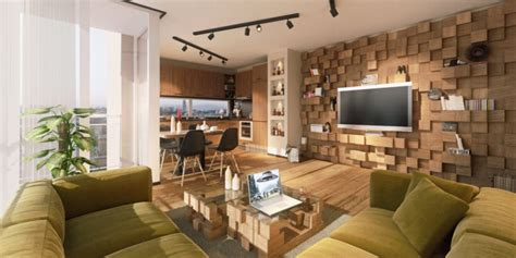 Open Plan Apartment by Modern Bachelor S Open Plan Apartment With Lots Of Warm