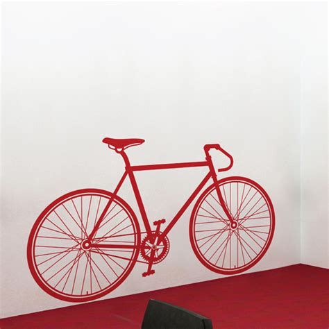 Wall Sticker Bicycle fixed gear bike wall decal sticker