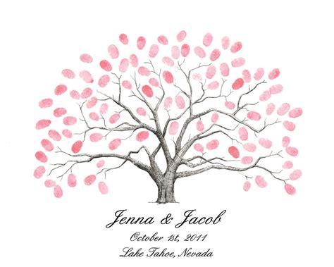 Best Photos Of Fingerprint Guest Book Template Wedding Wedding Tree Template