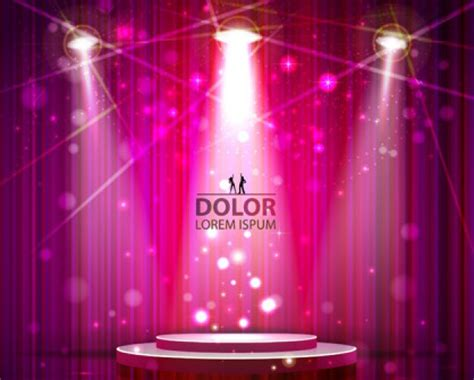 free stage background design vector stage lighting pink background vector free download