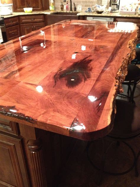 wood bar top ideas our countertop bar found the mesquite wood at a mill in