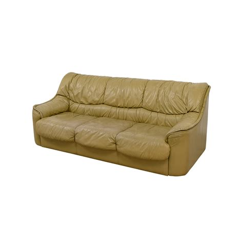 leather sofa beige 90 off beige leather sofa sofas