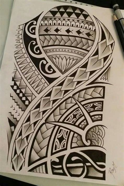 polynesian drawing i made for a contest my drawings maori and tatoo