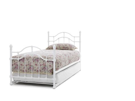 White Metal Single Bed Frame Serene 3ft Single White Gloss Metal Guest Bed Frame By Serene Furnishings