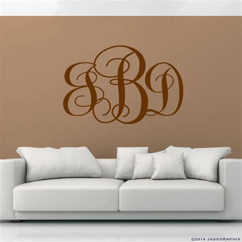 monogrammed wall stickers monogram wall decals wall decals ideas awesome