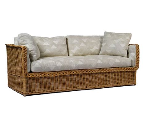 Indoor Rattan Sofa classic day bed sofa wicker material indoor furniture the wicker works