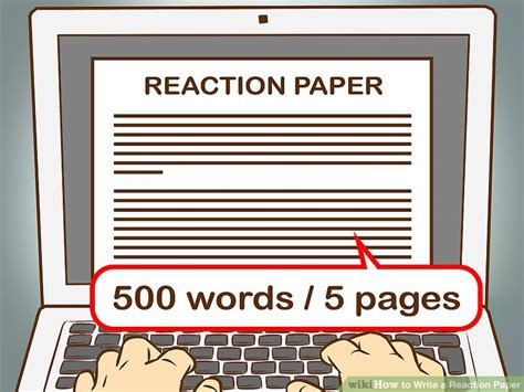 steps in writing a reaction paper how to write a reaction paper with pictures wikihow