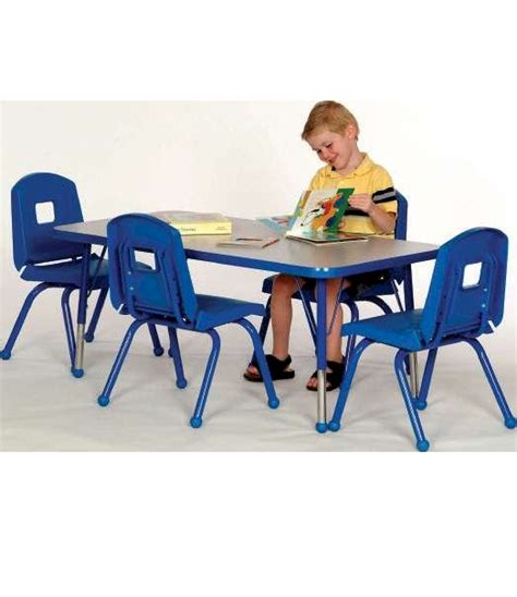 Preschool Table And Chair Set by Preschool Table And 4 Chair Set