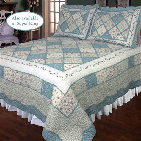 Blue Quilts Bedding by Blue Floral Patchwork Quilt Bedding