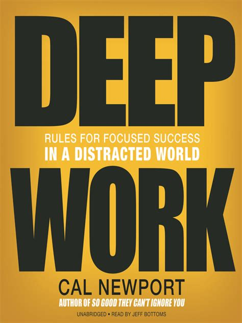 deep work rules for deep work kenton county public library
