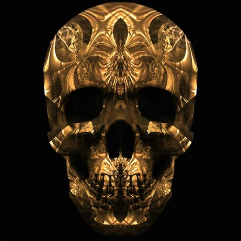 Gold Skull Wallpaper by Scary Wallpapers