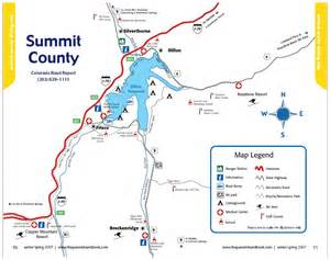 map of silverthorne colorado summit county high altitudes