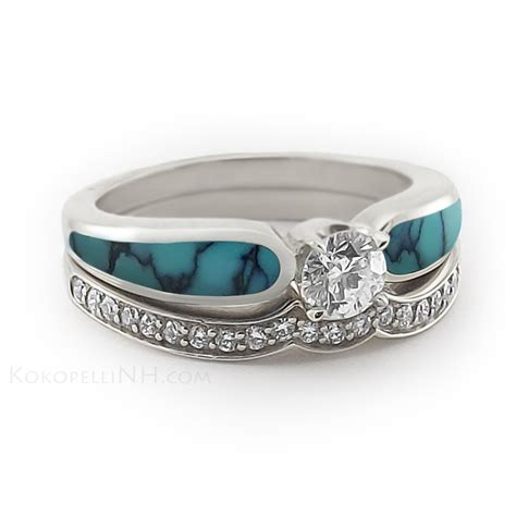 Wedding Rings With Turquoise by Personalise Your Engagement And Wedding Rings