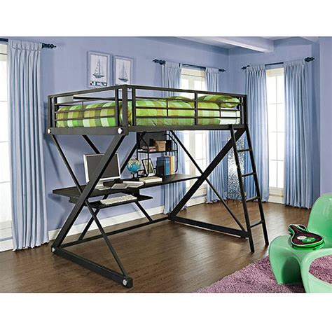 walmart full size beds z full size study loft bunk bed walmart com
