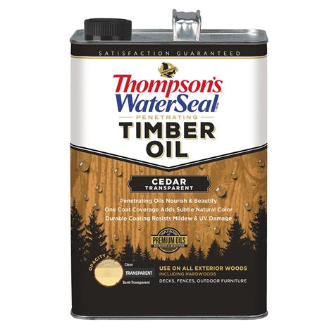 thompsons waterseal  gal transparent cedar penetrating