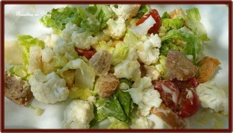 couper chou fleur salade de chou fleur cru recettes en