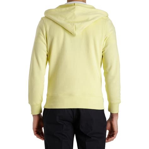 Hoodie Zipper Yellow Claw Leo Cloth lyst thom grey zip front hoodie in yellow for