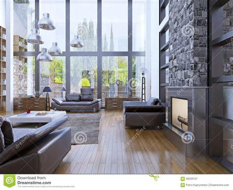 Loft Fenster Sichtschutz by Loft Apartment Interior Design With Panoramic Window
