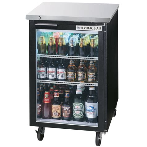 Bar With Refrigerator by Beverage Air Bb24g 1 B Led 24 Quot Black Back Bar Refrigerator