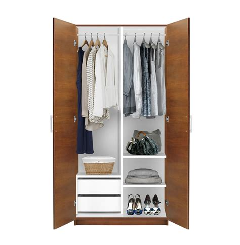 Alta 2 Door Wardrobe Side By Side Contempo Space 2 Door Wardrobe Closet