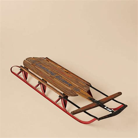 quot lightning glider quot wooden sled pinter