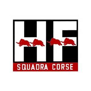 Lancia Hf Logo Sticker Hf Squadra Corse Cm 15x12 Rosso Corsa Di Italo