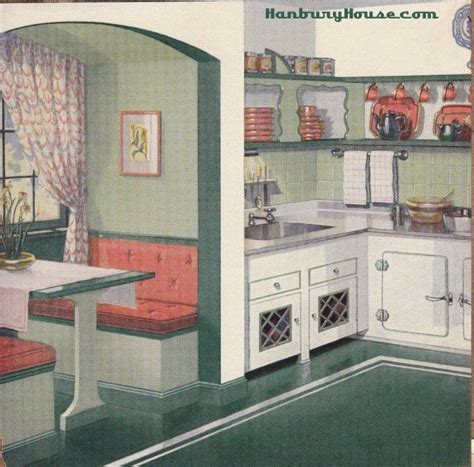 retro kitchen nook booth 1940s 1950s kitchen