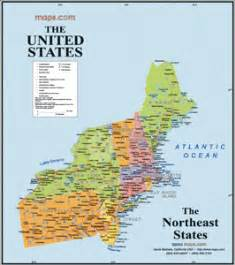 Usa Northeast Map by New England Business Information New England Business