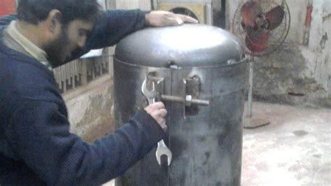 dimple air compressor tank welding youtube
