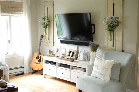 Living Room Ideas With Tv On Wall - how to decorate around your tv like a pro living room