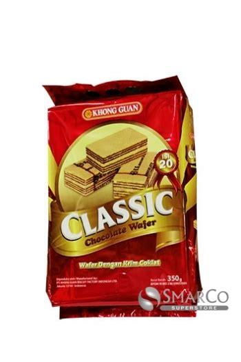 supermarket detil produk khong guan classic wafer coklat bungkus
