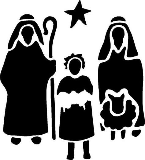 stencil christmas nativity  shepherds