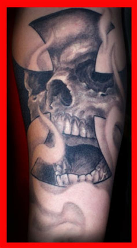 iron cross skull tattoo darrin white