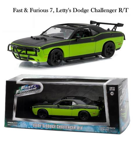 155 Fast Furious Lettys Dodge Charger Srt8 greenlight fast furious 7 letty s 2014 dodge challenger diecast car 1 43 86230 ebay
