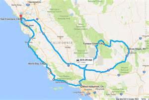 road map of california and nevada a road trip itinerary for california and nevada bruised