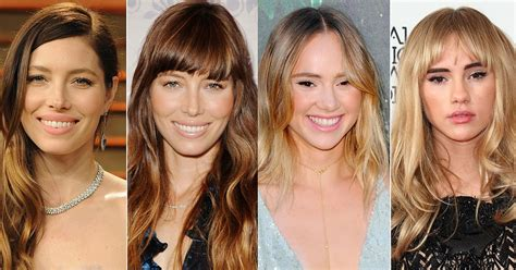 people who look better with bangs bang on do these celebrities look better with or without