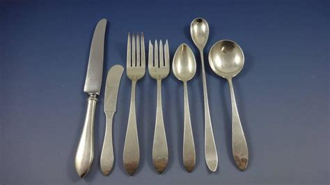 Handmade Sterling Silver Flatware - newbury by newbury crafters sterling flatware set