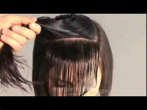 Types Of Hair Cutting Techniques by Hair Cutting Technique How To Cut Rounded Bangs Fringe