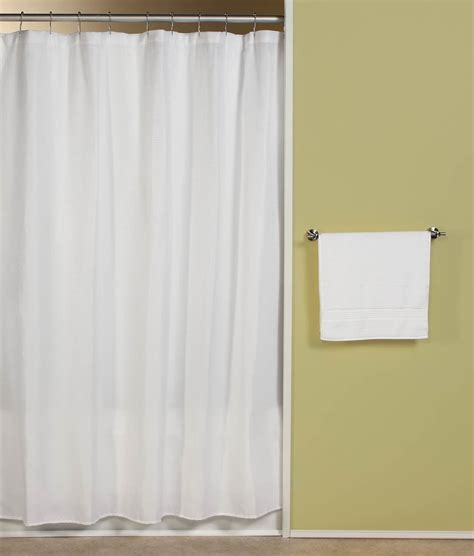 Bathroom Shower Curtain Carlton White Fabric Shower Curtain Curtain Bath Outlet