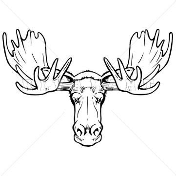 cartoon moose tattoo moose clip art and drawings on pinterest