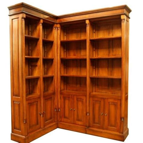 Corner Cabinet Bookshelf Georgian Corner Bookcase Mahogany Akd Furniture