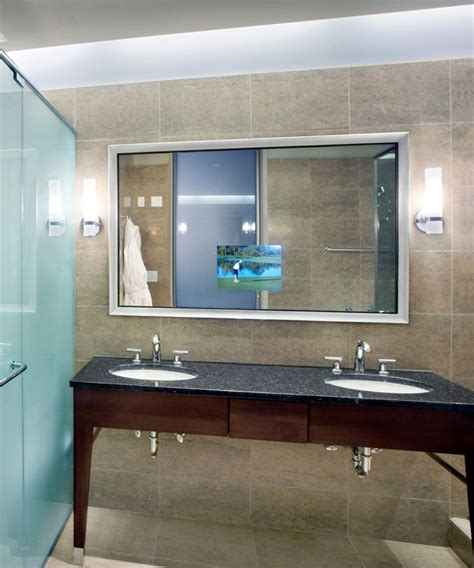 Stanford Lighted Mirror Tv Electric Mirror 174 Bathroom Mirrors With Tv