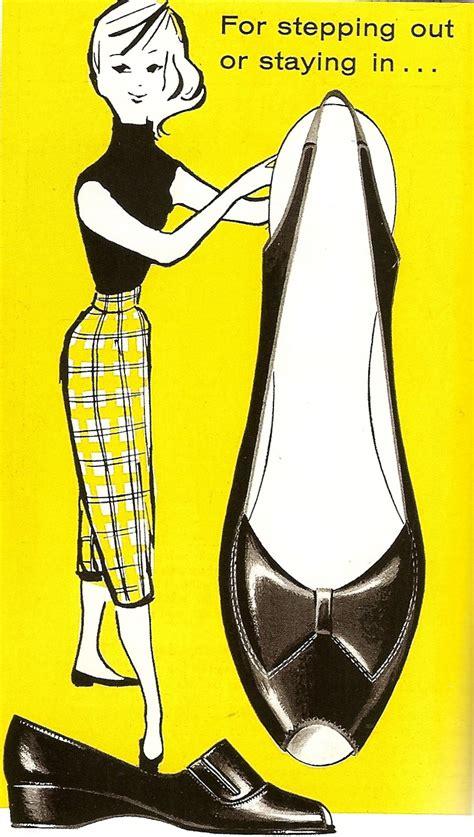 Chausures Annees 50 Publicit 233 Des 233 Es 50 Les Chaussures Femmes Hommes Enfants Dr 244 Les De Shoes